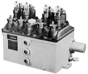 Лубрикатор HP-50 с 4-мя насосами, имеется возможность фланцевого крепления клапана защиты от переполнения резервуара и монтажа выключателья низкого