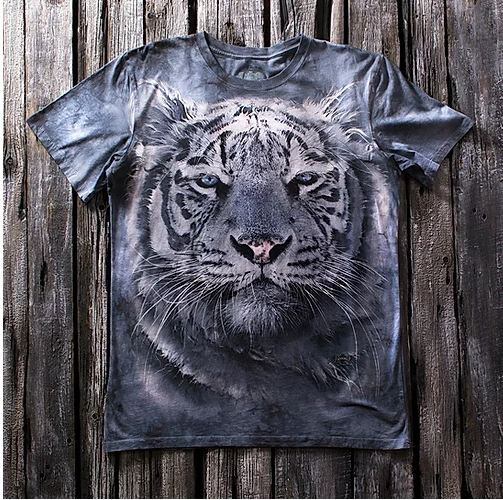 «Тигр» молодежная мужская варенка футболка 3D
