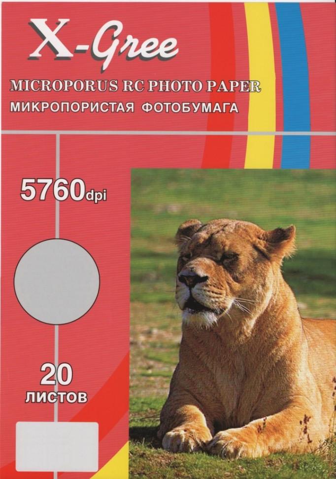 RS260S-A4-20 X-GREE Микропористо-атласная фотобумага на резиновой основе (Satin)(50)