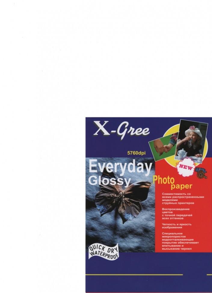 Фотобумага X-GREE Глянцевая EVERYDAY 5R/50/240г E7240-13*18-50 (40)