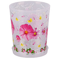 """Горшок цветочный """"Камилла"""" для орхидеи с поддоном, 1.2 л, Прозрачный, М2799"""