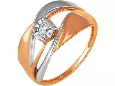 Золотое кольцо РусГолдАрт 1252303_1_5_1_18