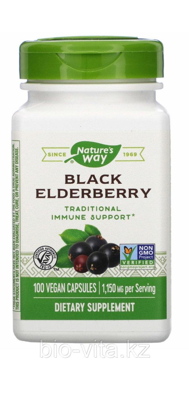Nature's Way, Черная бузина, 575 мг, 100 капсул. Для поддержки иммунитета.