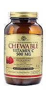 Solgar, Жевательный витамин С, с натуральным клюквенно-малиновым вкусом, 500 мг, 90 жевательных таблеток.