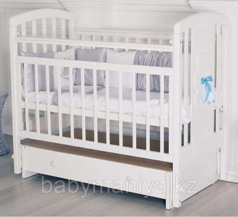 Кровать детская Incanto HUGGE поперечный маятник /ящик белый