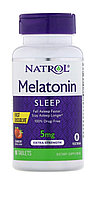 Natrol, Мелатонин, 5 мг. быстрорастворимый, клубника, 90 таблеток
