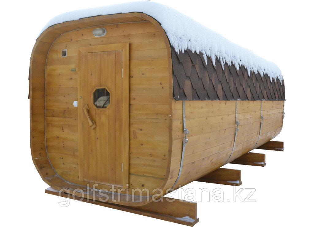 Баня-Бочка. 4 метра, Квадро, Сосна