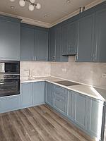 Кухонный гарнитур угловой. Темно-синий. 2,5*3,5. На заказ