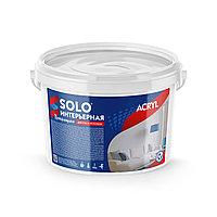 """Краска акриловая """"SOLO"""" Протирающаяся для стен и потолков"""
