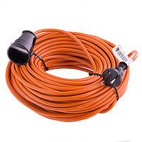 Удлинитель-шнур силовой, 15м, 1 розетка, 10A, тип УХ10// Denzel