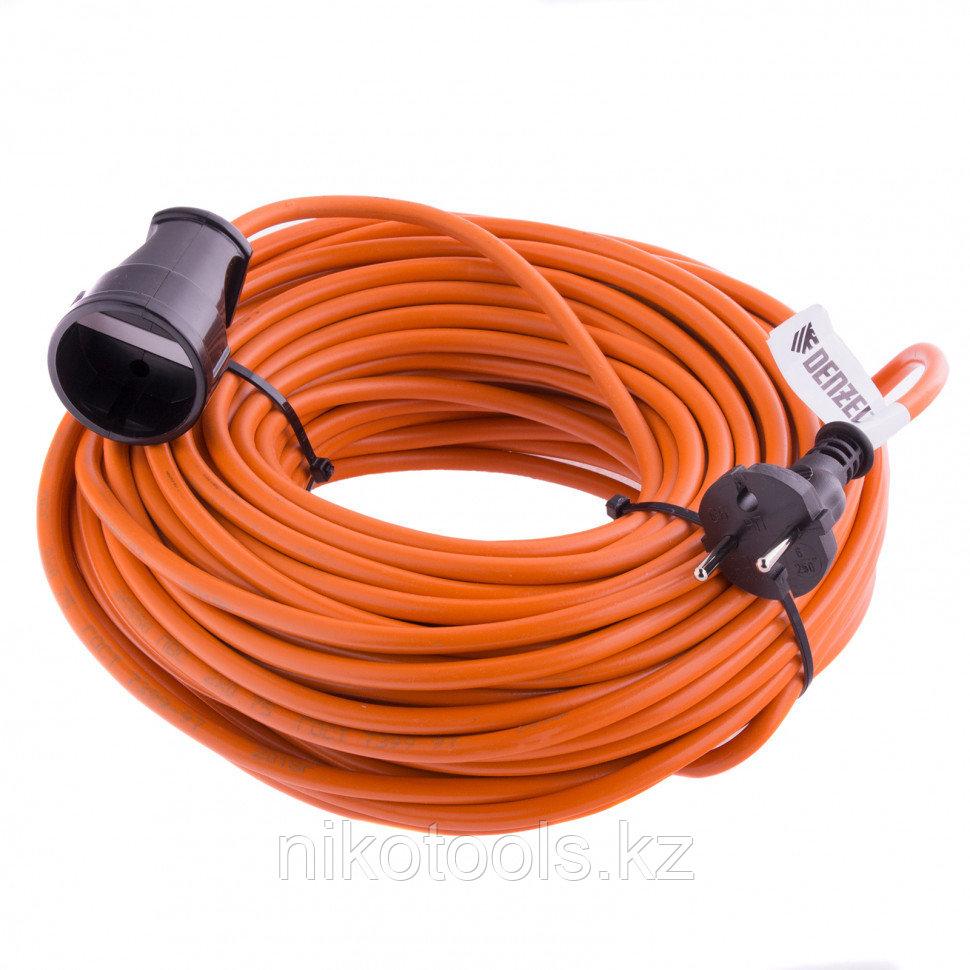 Удлинитель-шнур силовой, 20м, 1 розетка, 10A, тип УХ10// Denzel