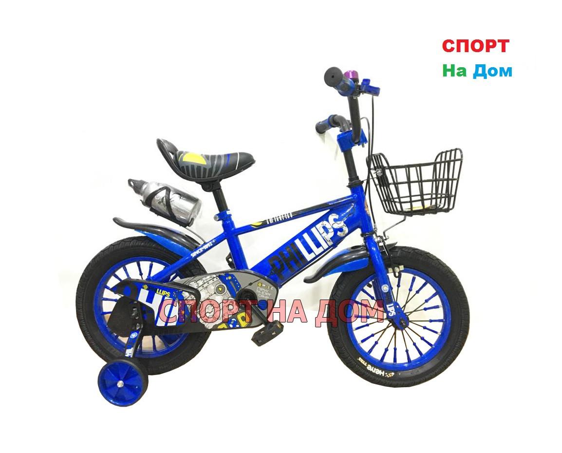 Велосипед Phillips на 2-3 года с холостым ходом рама 12 (синий)