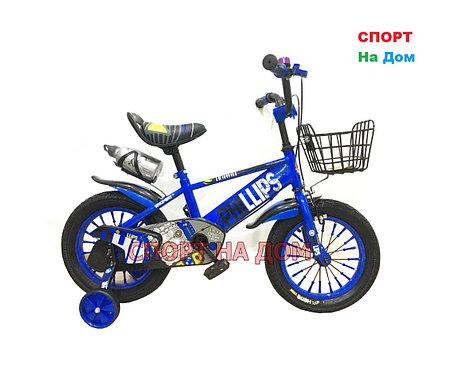 Велосипед Phillips на 2-3 года с холостым ходом рама 12 (синий), фото 2