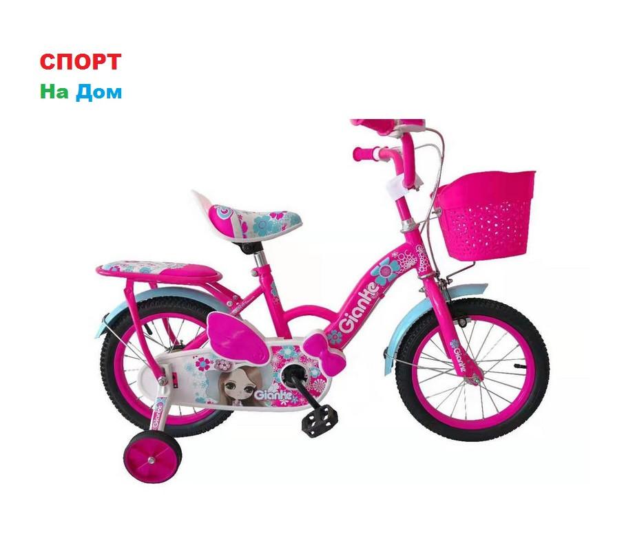 """Детский оригинальный велосипед Phillips для девочек """"Принцесса"""" рама 14 (цвет -розовый)"""