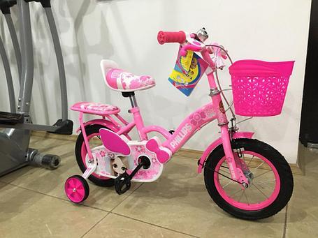 """Детский оригинальный велосипед Phillips для девочек """"Принцесса"""" рама 14 (цвет -розовый), фото 2"""