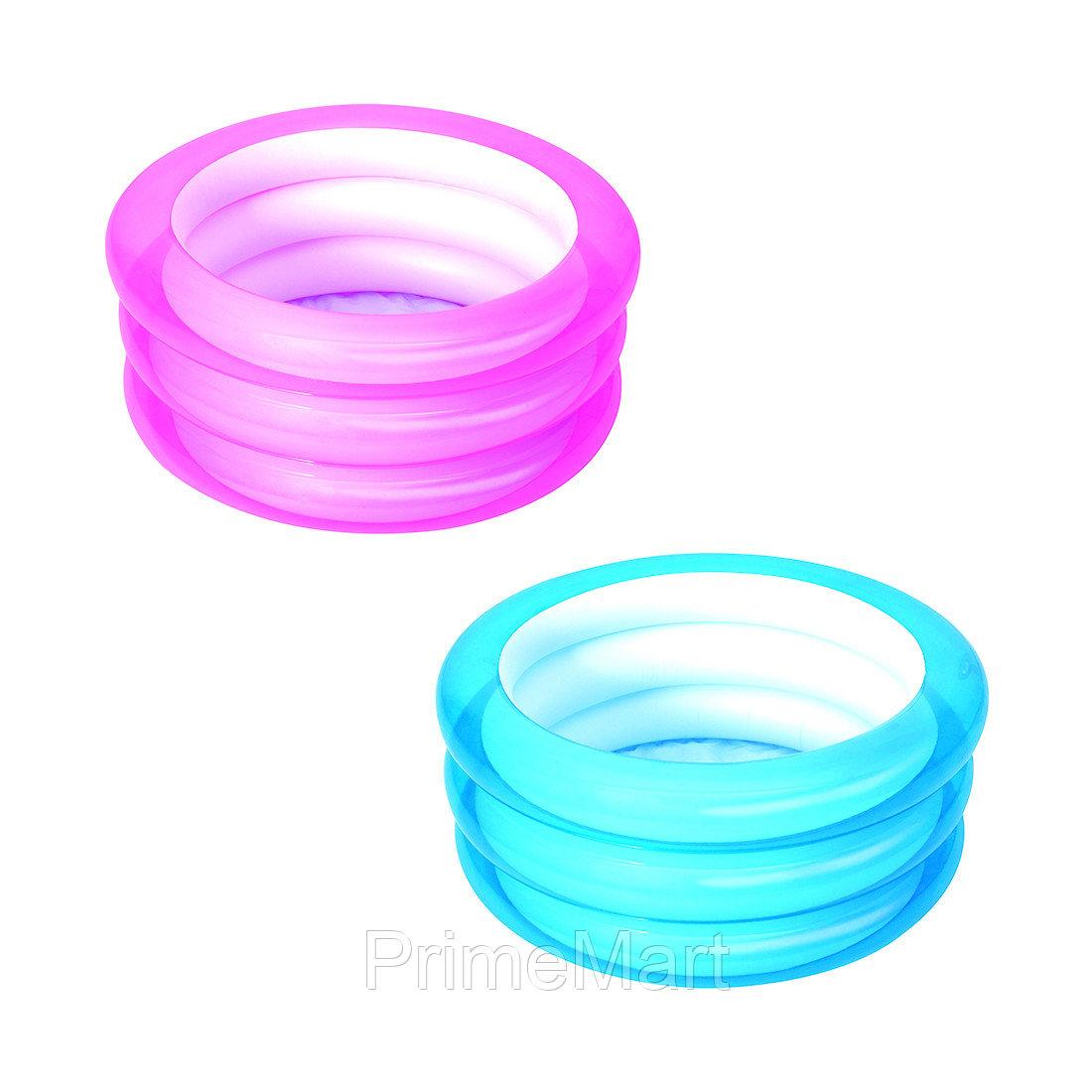 Детский надувной бассейн Kiddie Pool 70 х 30 см, BESTWAY, 51033, Винил, 43л., 2+, Голубой/розовый цвет в ассортименте, Пакет