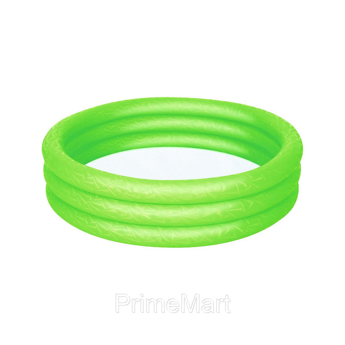Детский надувной бассейн Play 102 х 25 см, BESTWAY, 51024, Винил, 101л., 2+, Красный/Зеленый/Синий в ассортименте, Пакет