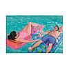 Надувной плавающий держатель для напитков Fashion 22.5x22.5/34.5x31 см, BESTWAY, 34104, Винил, Фламинго/Павлин в ассортименте, Пакет, фото 3