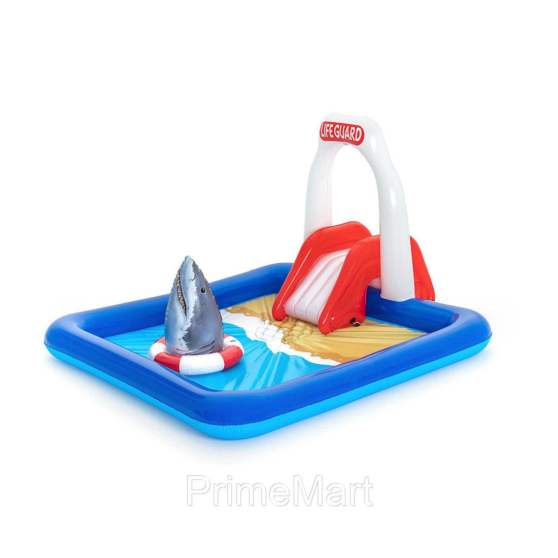 Детский надувной игровой бассейн Lifeguard Tower 234 x 203 x 129 см, BESTWAY, 53079 (53079E), Винил, 276 л., 2+, Встроенный разбрызгиватель, Надувная