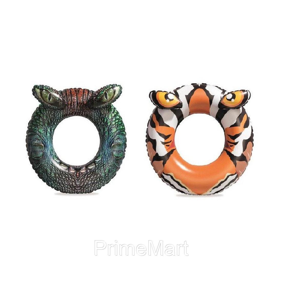Круг для плавания Predator 91 см, BESTWAY, 36122, Винил, 10+, Оригинальной формы, Цвета в ассортименте (Тигр/Крокодил), Цветная коробка