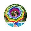 Круг для плавания Rainbow Ribbon 115 см, BESTWAY, 36163, Винил, 12+, Оргинальная форма, Радужный, Цветная коробка, фото 2