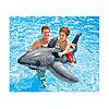 Надувная игрушка для катания верхом Большая Белая Акула 173 х 107 см, INTEX, 57525NP, Винил, Фотореалистичная печать, С ручками, Цветная коробка, фото 2