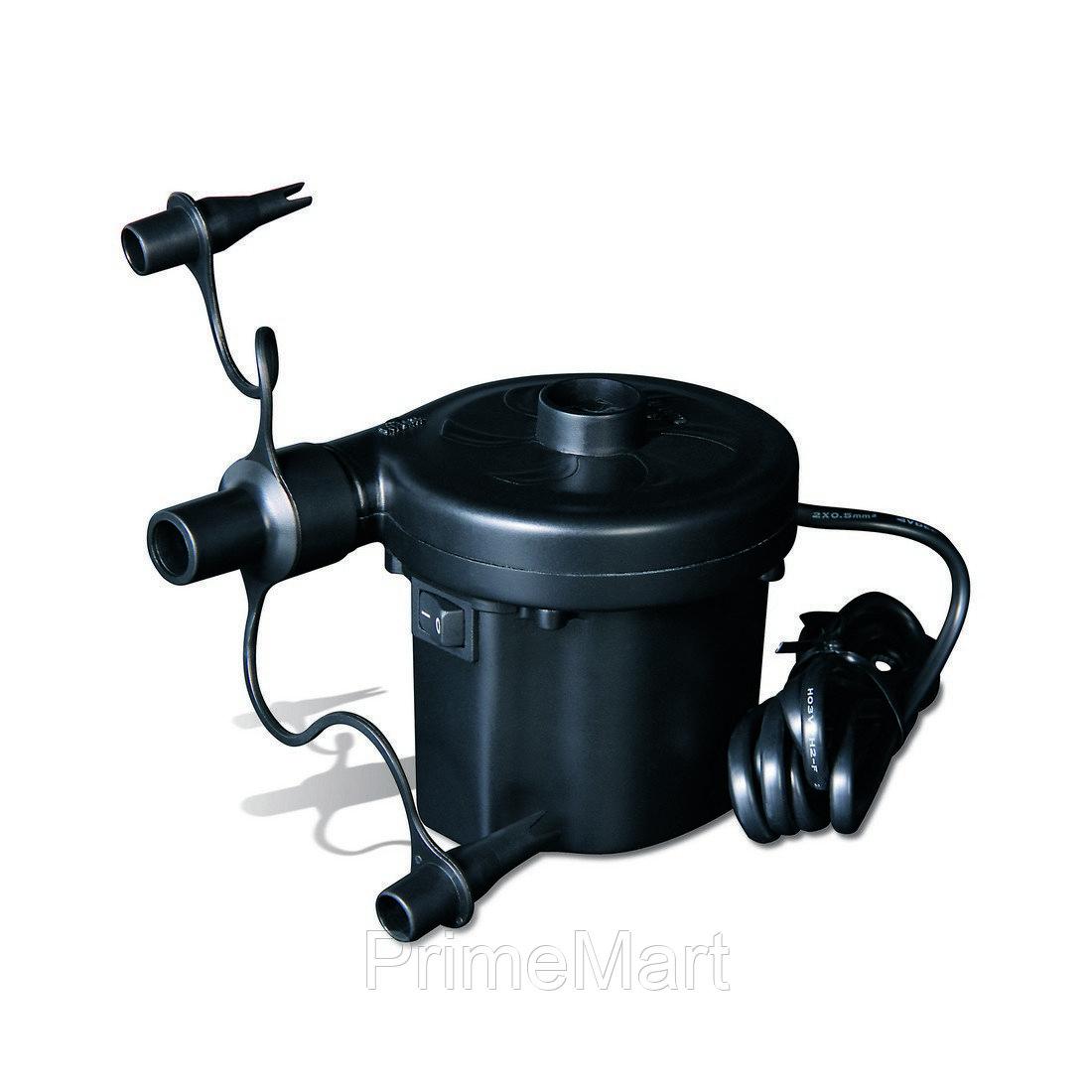 Насос электрический Sidewinder AC Air Pump (220В), BESTWAY, 62056, Пластик, 3 насадки, Чёрный, Цветная коробка