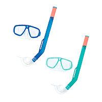 Набор для плавания Fun 3+, BESTWAY, 24018, В наборе: маска, трубка(шноркель), Цвета в ассортименте, Блистер
