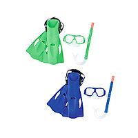 Набор для плавания Freestyle 7+, BESTWAY, 25019, В наборе: маска, трубка(шноркель), ласты(37-41р), Цвета в ассортименте, Сетка