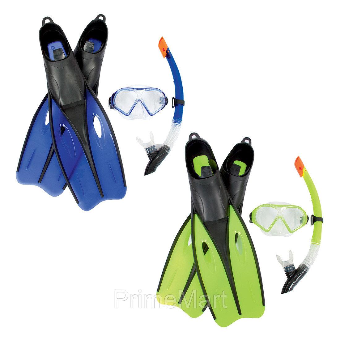 Набор для плавания Dream Diver Set 7+, BESTWAY, 25021, В наборе: маска для плавания  плюс трубка для плавания(шноркель) плюс ласты (38-39 размер),