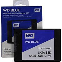 Твердотельный накопитель 2000GB SSD WD WDS200T2B0A Серия BLUE 3D NAND 2.5 SATA3 R560Mb/s, W530MB/s, 7мм, MTBF