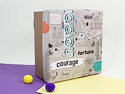"Подарочная коробка ""Кураж"". Размер: 20*20*9"