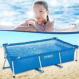Каркасный бассейн прямоугольный 260x160x65 см, Intex 28271, фото 4
