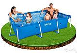 Каркасный бассейн прямоугольный 260x160x65 см, Intex 28271, фото 5