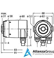 Энкодер TURCK RM-36B12E-9A28B-R3M12