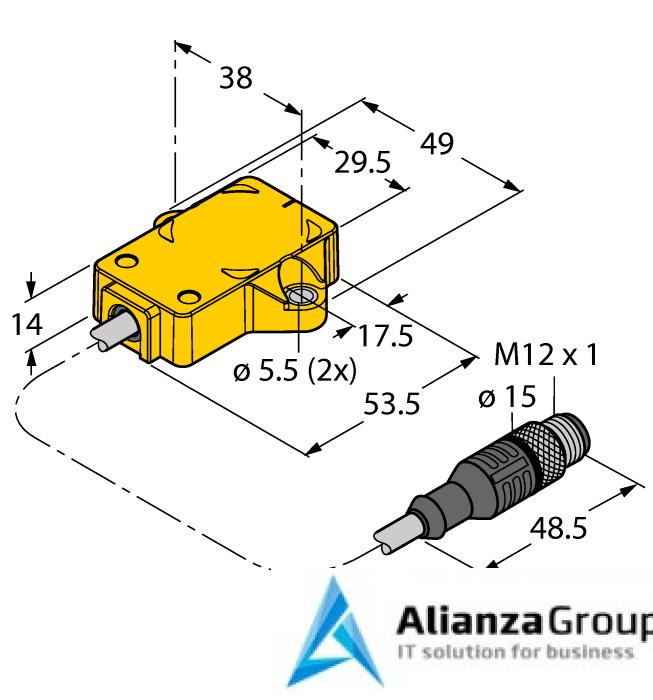 Энкодер TURCK RI360P1-QR14-ELU4X2-0.3-RS5/S97