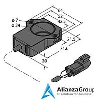 Энкодер TURCK RI90P1-QR20-LU4X2-0.15-DT04-3P