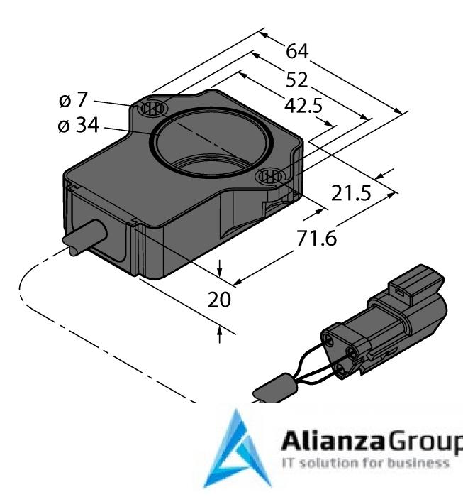 Энкодер TURCK RI60P1-QR20-LU4X2-0.15-DT04-3P