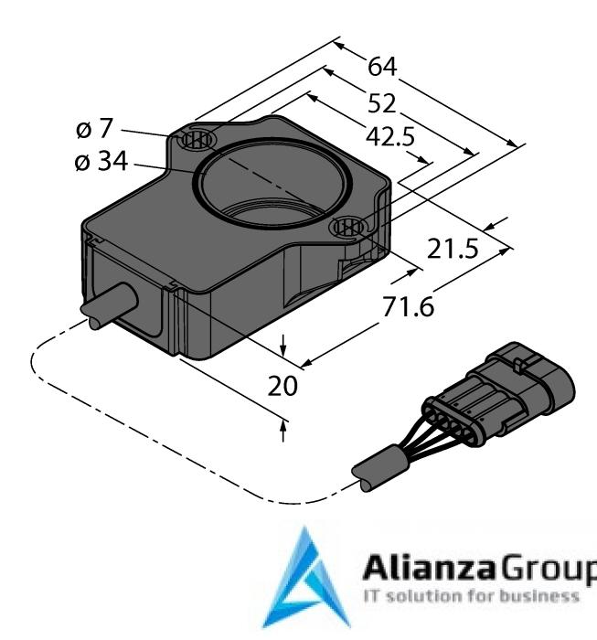 Энкодер TURCK RI90P1-QR20-LU4X2-0.24-AMP01-3P