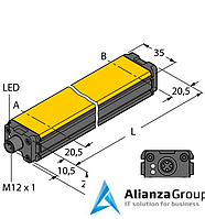 Датчик линейных перемещений TURCK WIM100-Q25L-LIU5X2-H1141