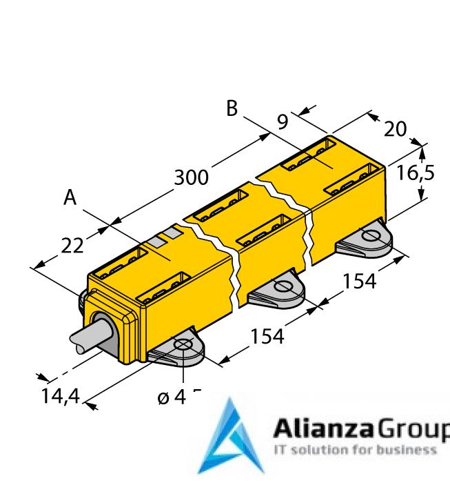 Датчик линейных перемещений TURCK LI300P1-Q17LM1-LIU5X2