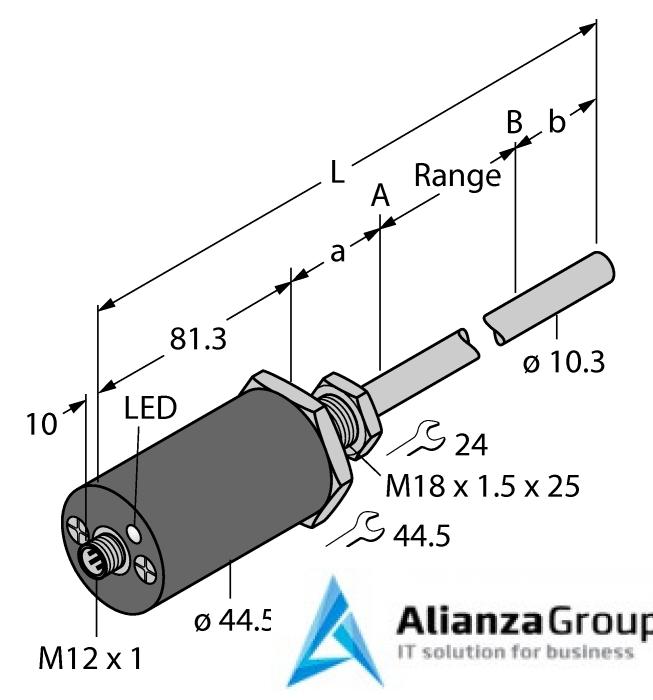 Датчик линейных перемещений TURCK LTX1100M-F10-LI0-X3-H1151