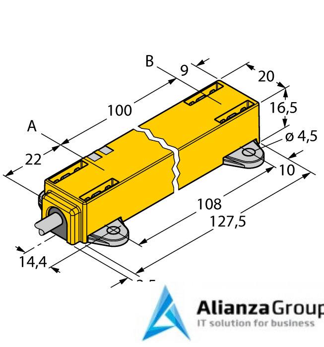 Датчик линейных перемещений TURCK LI100P1-Q17LM1-LU4X2/S97