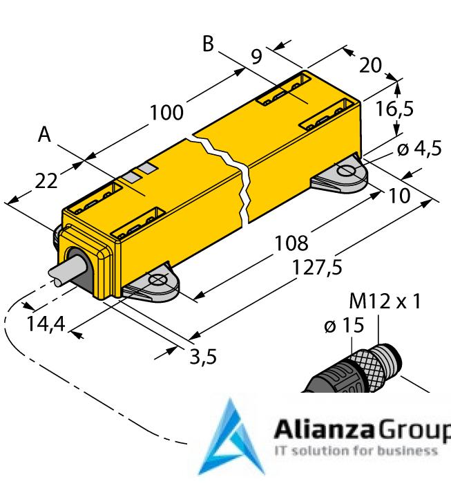 Датчик линейных перемещений TURCK LI100P1-Q17LM1-LIU5X2-0.3-RS5