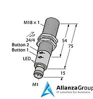 Ультразвуковой датчик TURCK RU40U-M18E-LIU2PN8X2T-H1151