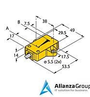 Датчик линейных перемещений TURCK LI25P1-QR14-LU4X2/S97