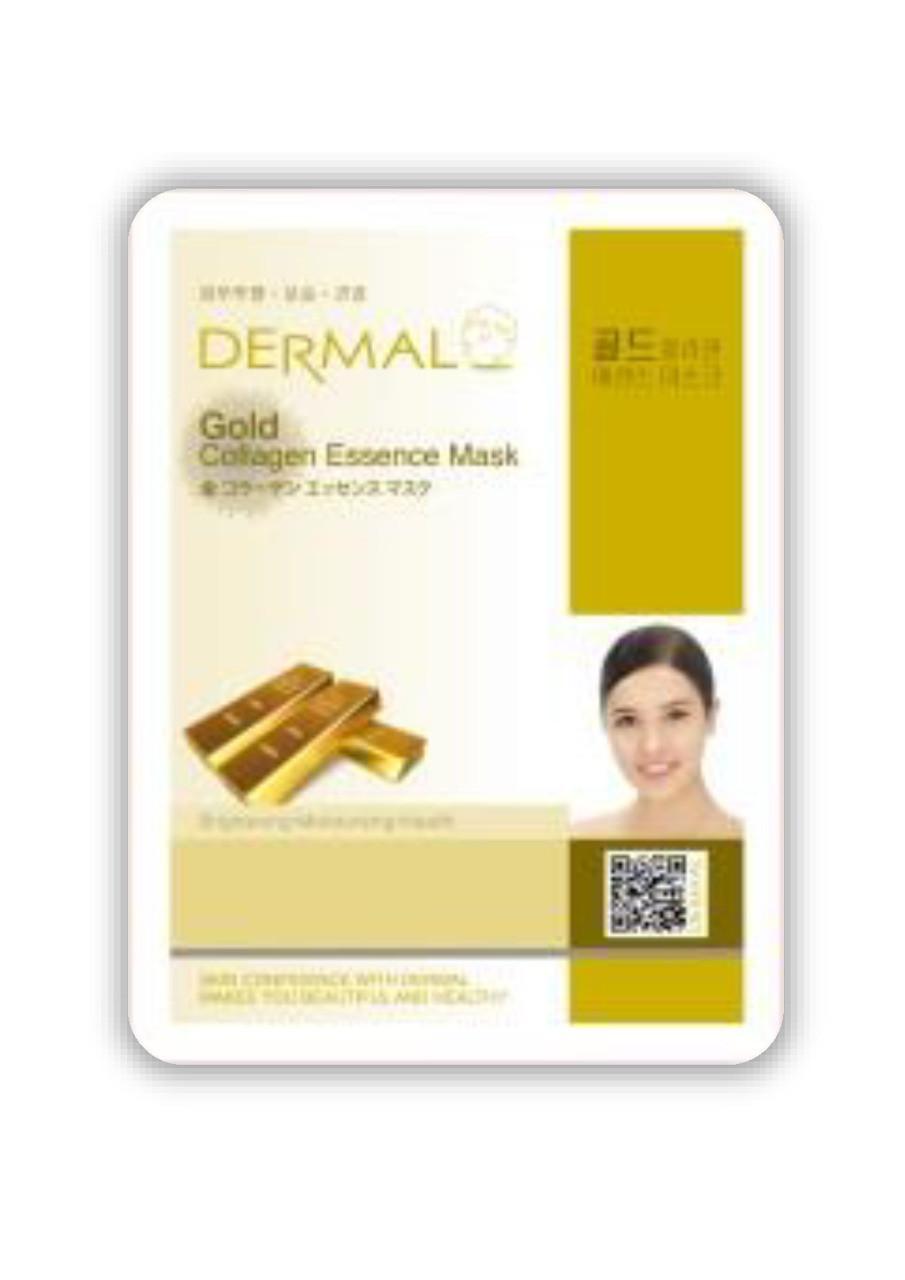 Dermal Gold Collagen Essence Mask Тканевая маска на основе эссенции коллоидного золота и коллагена