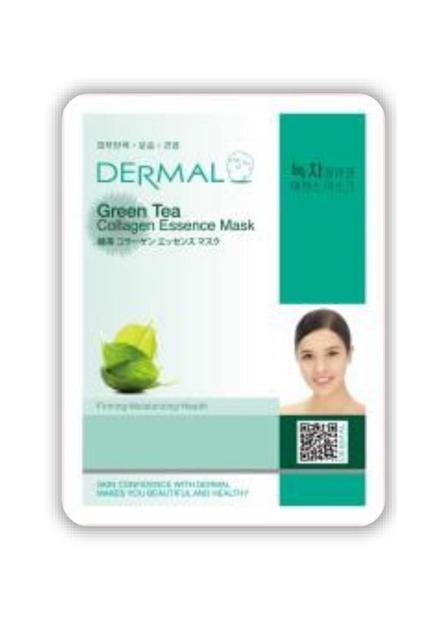 Dermal Green Tea Collagen Essence Mask Тканевая маска на основе эссенции зеленого чая и коллагена