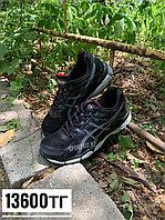Кроссовки asics чёрные с белым оттенком, фото 1