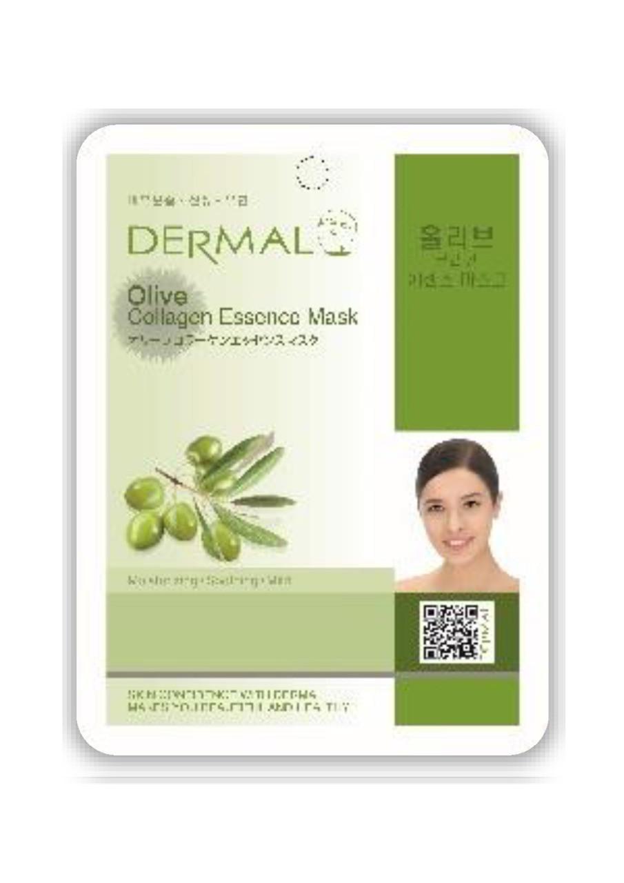 Dermal Olive Collagen Essence Mask Тканевая маска на основе эссенции плодов оливы и коллагена